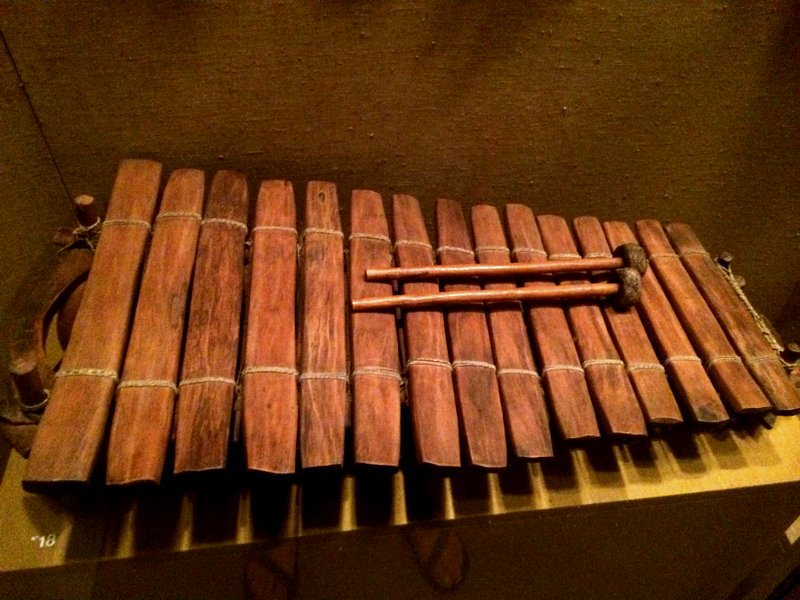 A rustic xylophone at the Met that reminded me of a  wall hanging I made in 2010 .