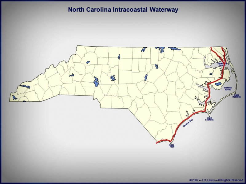 North Carolina Intercoastal Waterway on map of intercostal, map of rocky shore, map of eastern shore of maryland, map of malecon, map of amalfi coast, map of oregon coast, map of cascade mountains, map of international waterways, map of city, map of osa peninsula, map of beach, map of deserted island, map of kitsap peninsula, map of river, map of inner harbour, map of harbor, map of southeast side, map of beaches, map of gulf of mexico, map of icw,