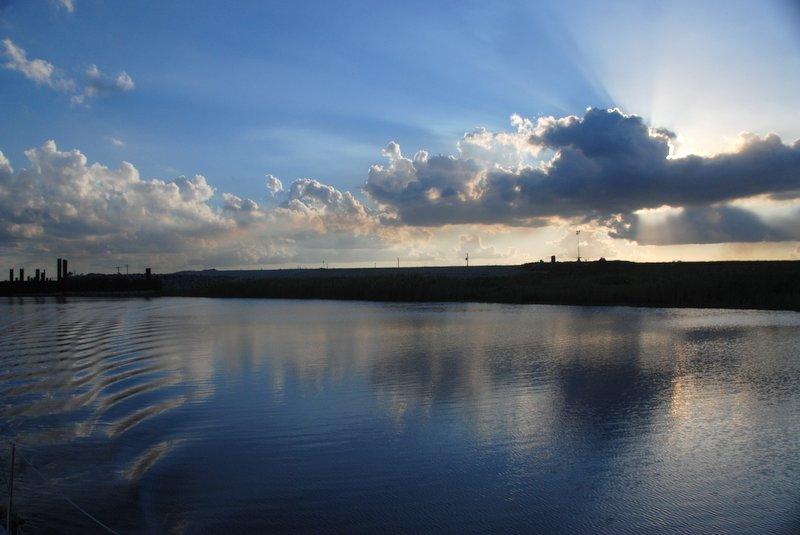 Sunset on the Okeechobee waterway