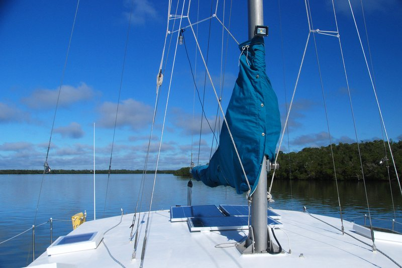 We wound up spending a few nights anchored in this spot on three separate occasions.