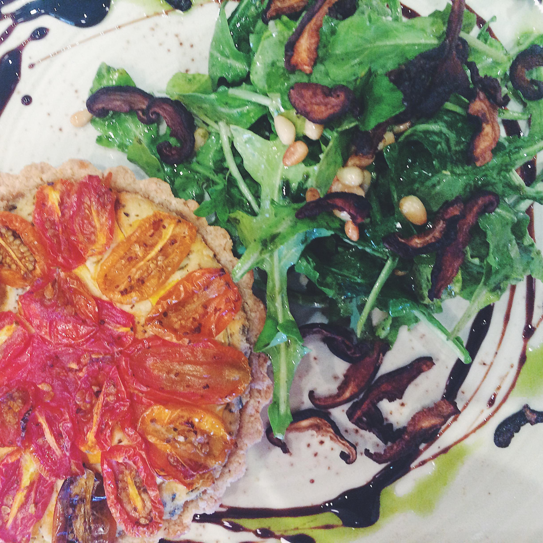 Tomato Tart with Almond Oat Crust
