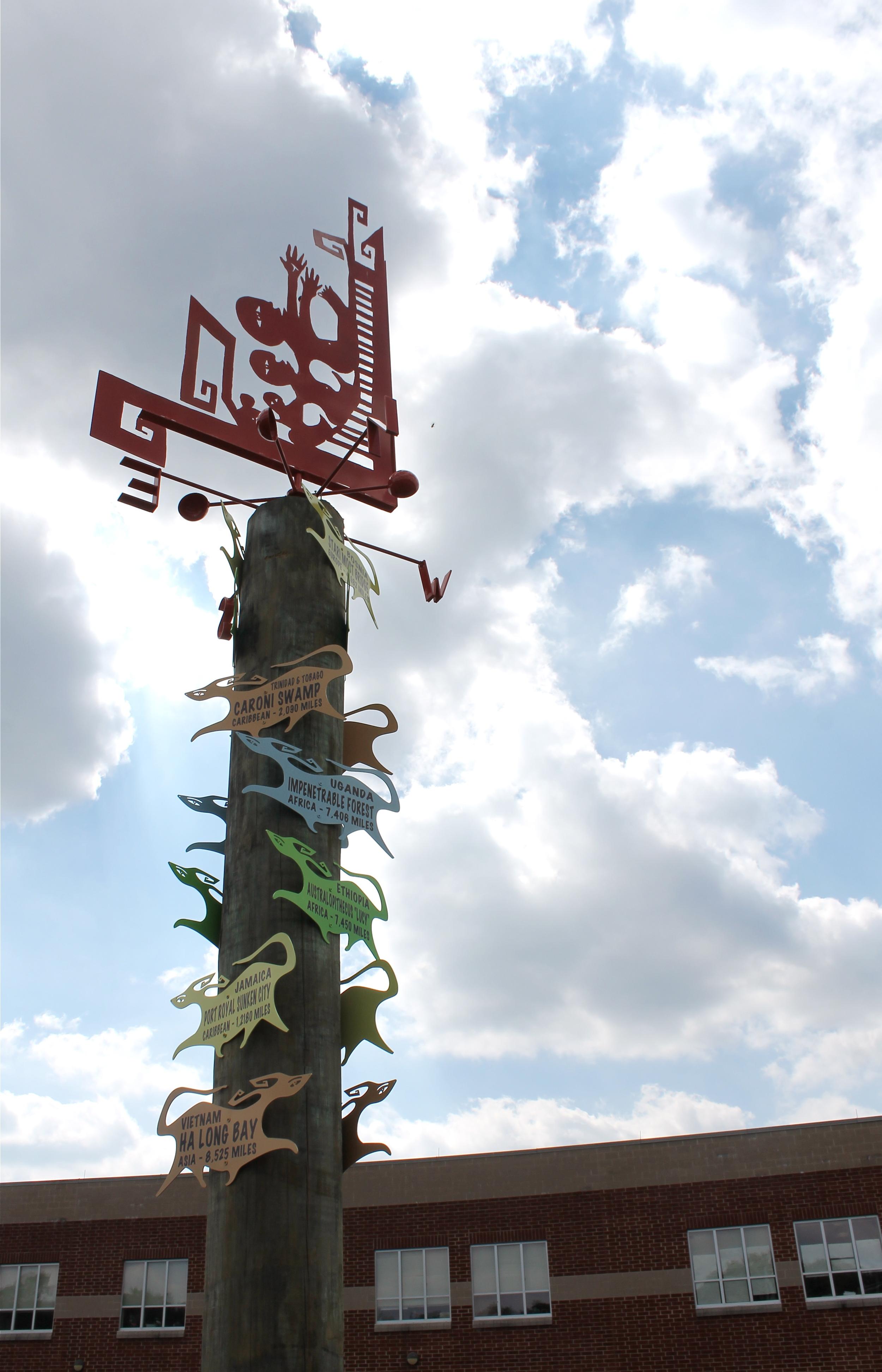 Migration Milepost Art Installation