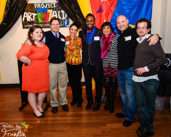 Martique winning Project Art Aid's Queen City Soup grant. Photo by Franklin.