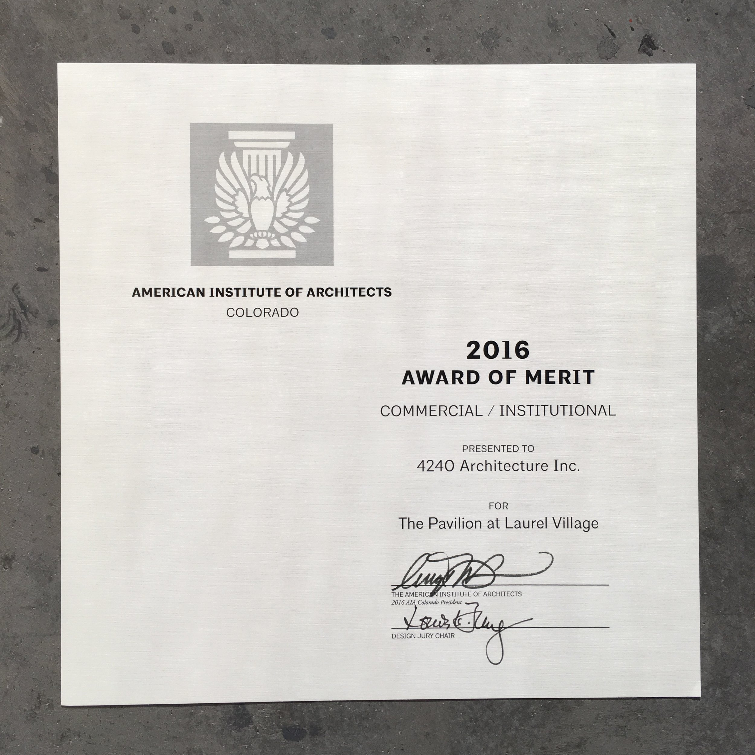 aia merit award