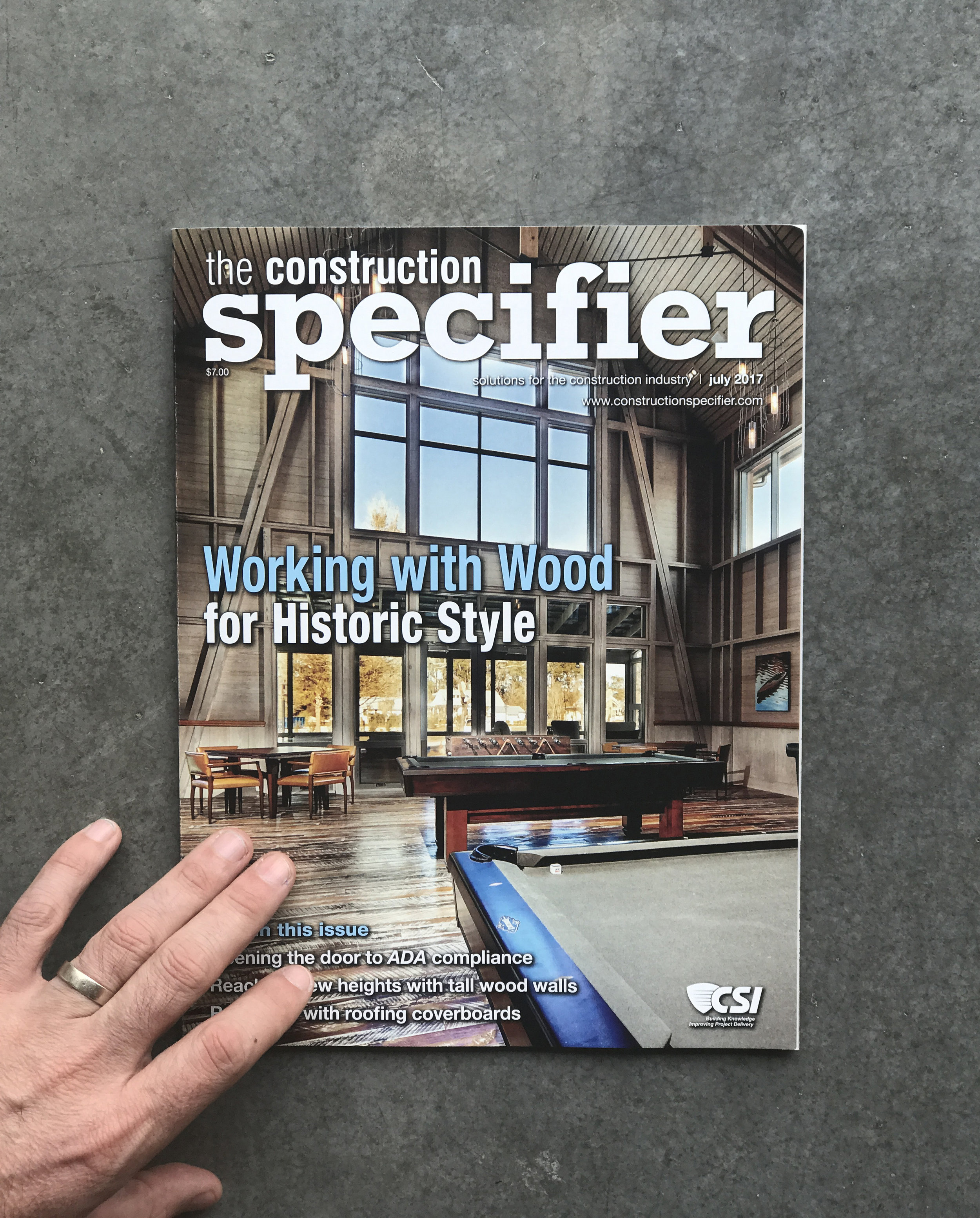 CONSTRUCTION SPECIFIER JULY 2017
