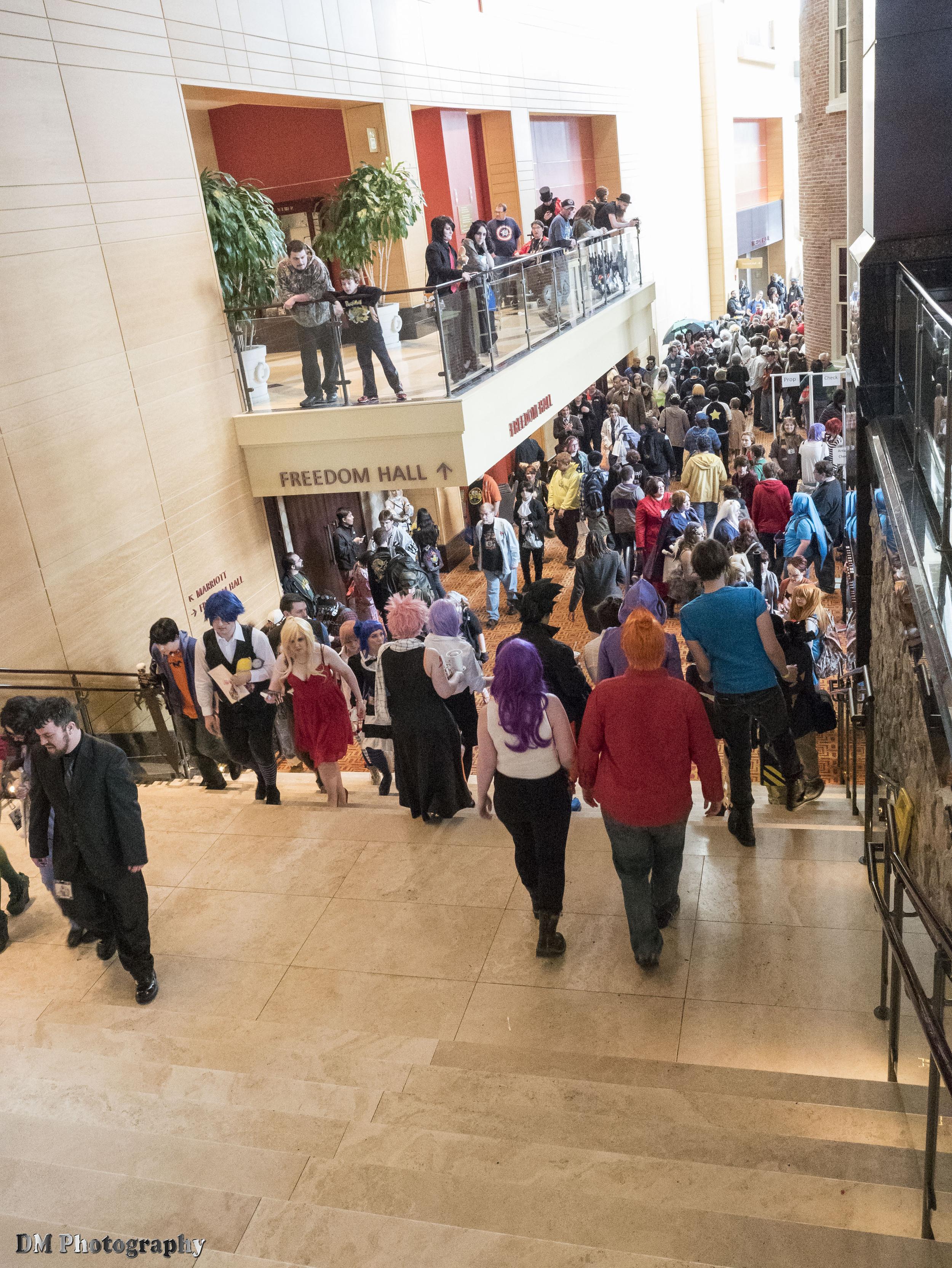 Stairway from main lobby