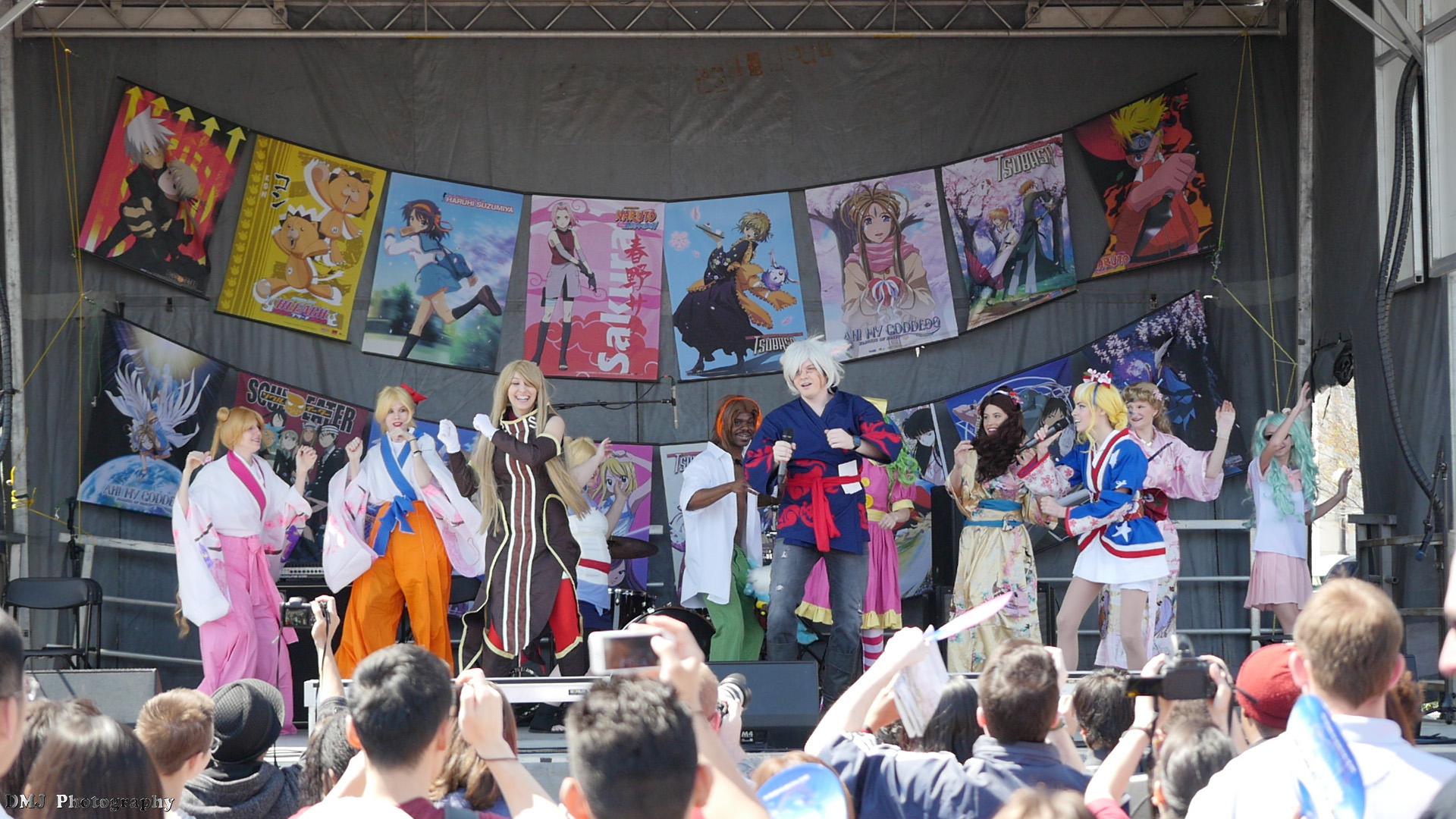 Some entertainment during the AUSA Cosplay Fashion Show