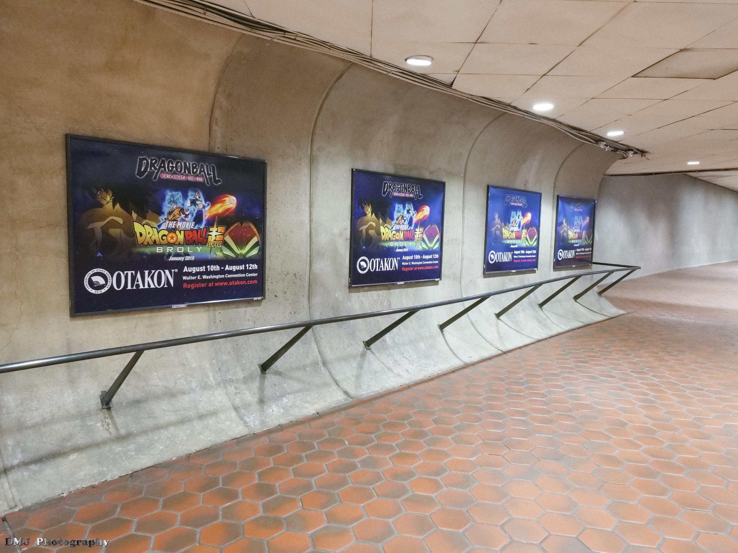 Dragon Ball Tour / Otakon advertisement posters at the Metro Station