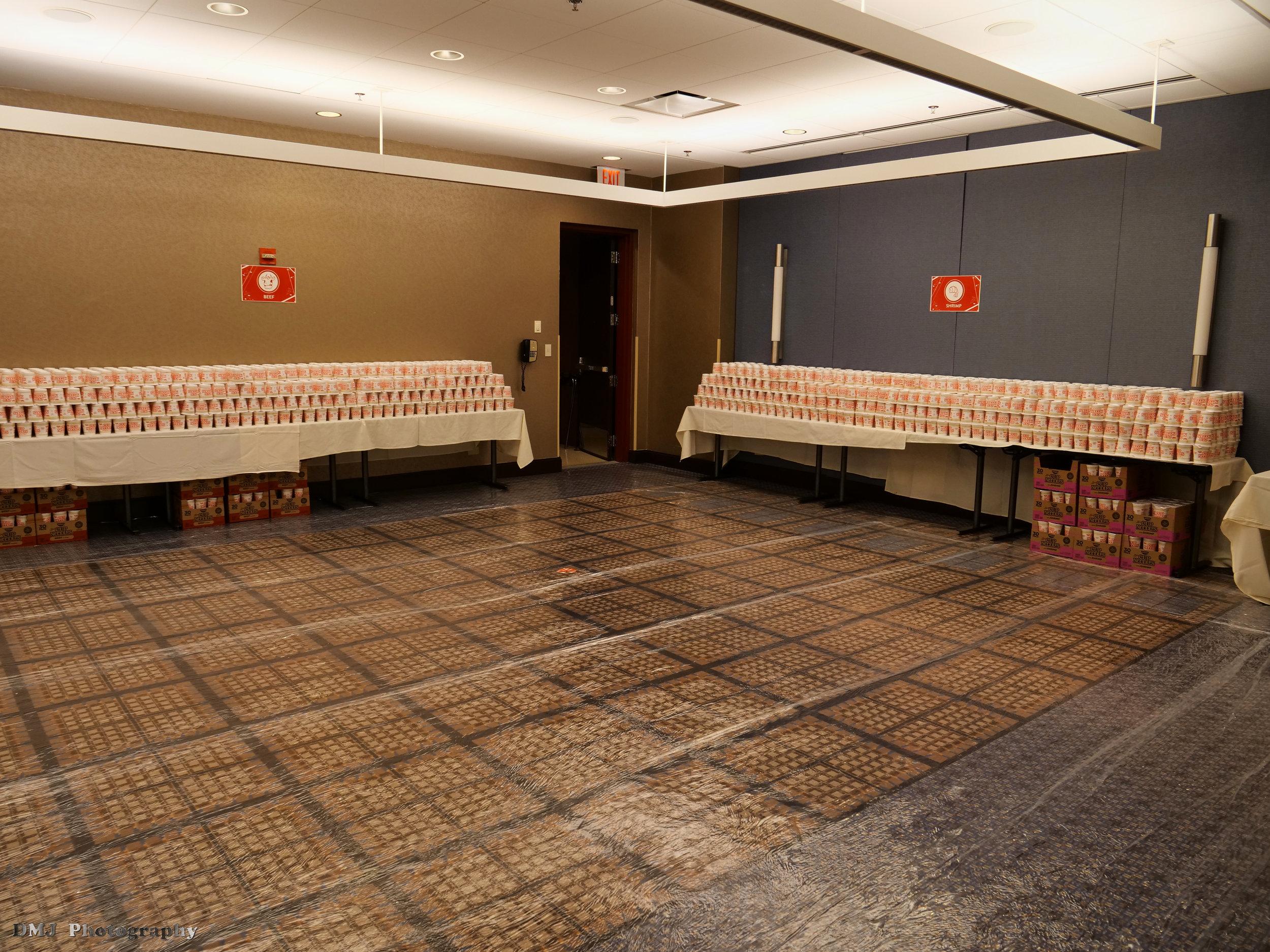 Tables of ramen