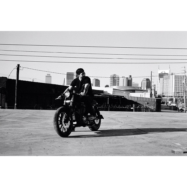 Taylor rocking the Sporty 1200 build in the sun Photo by: @dead_co  (at Nashville City Center)
