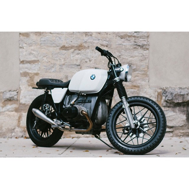 BMX inspired   BMW R100   built for @drkenspring photo by: @emiliapare (at Fort Houston)