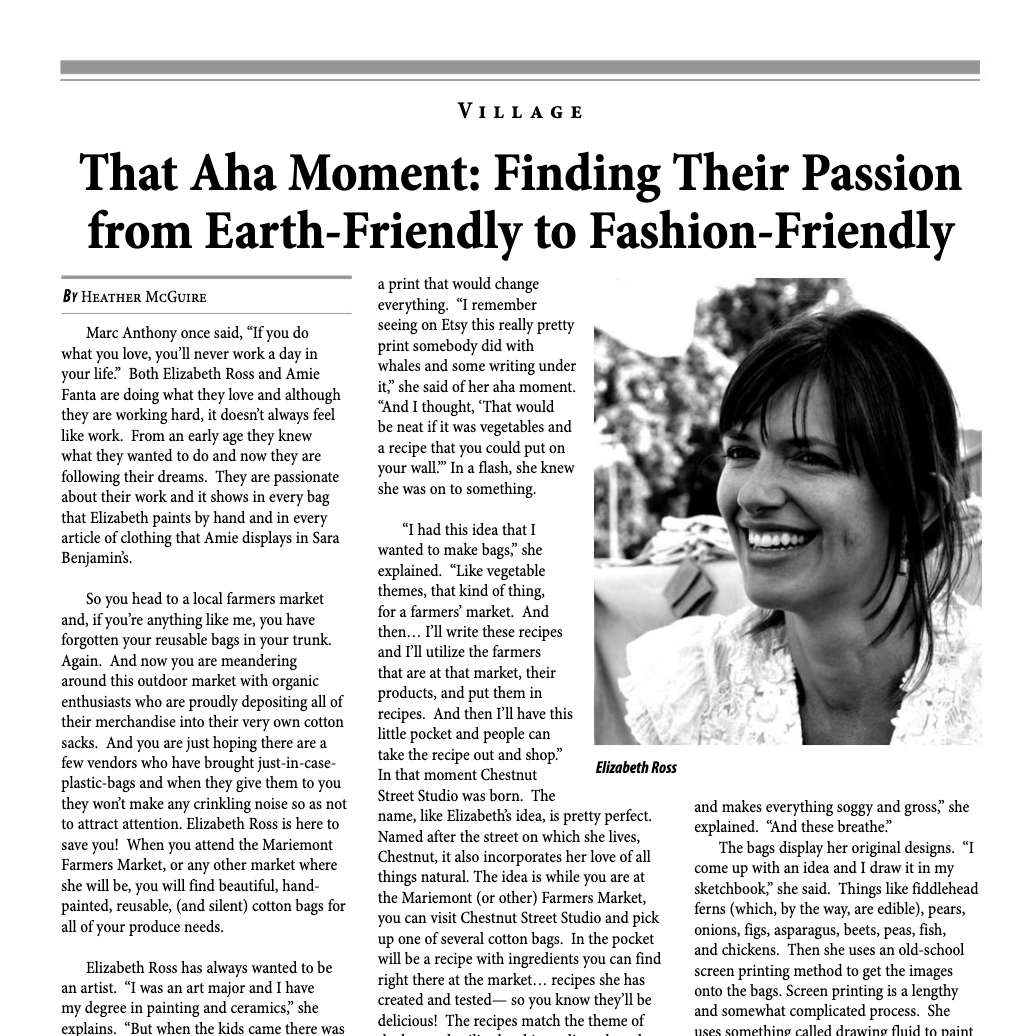 That Aha Moment - Image via Mariemont Town Crier • May 2014