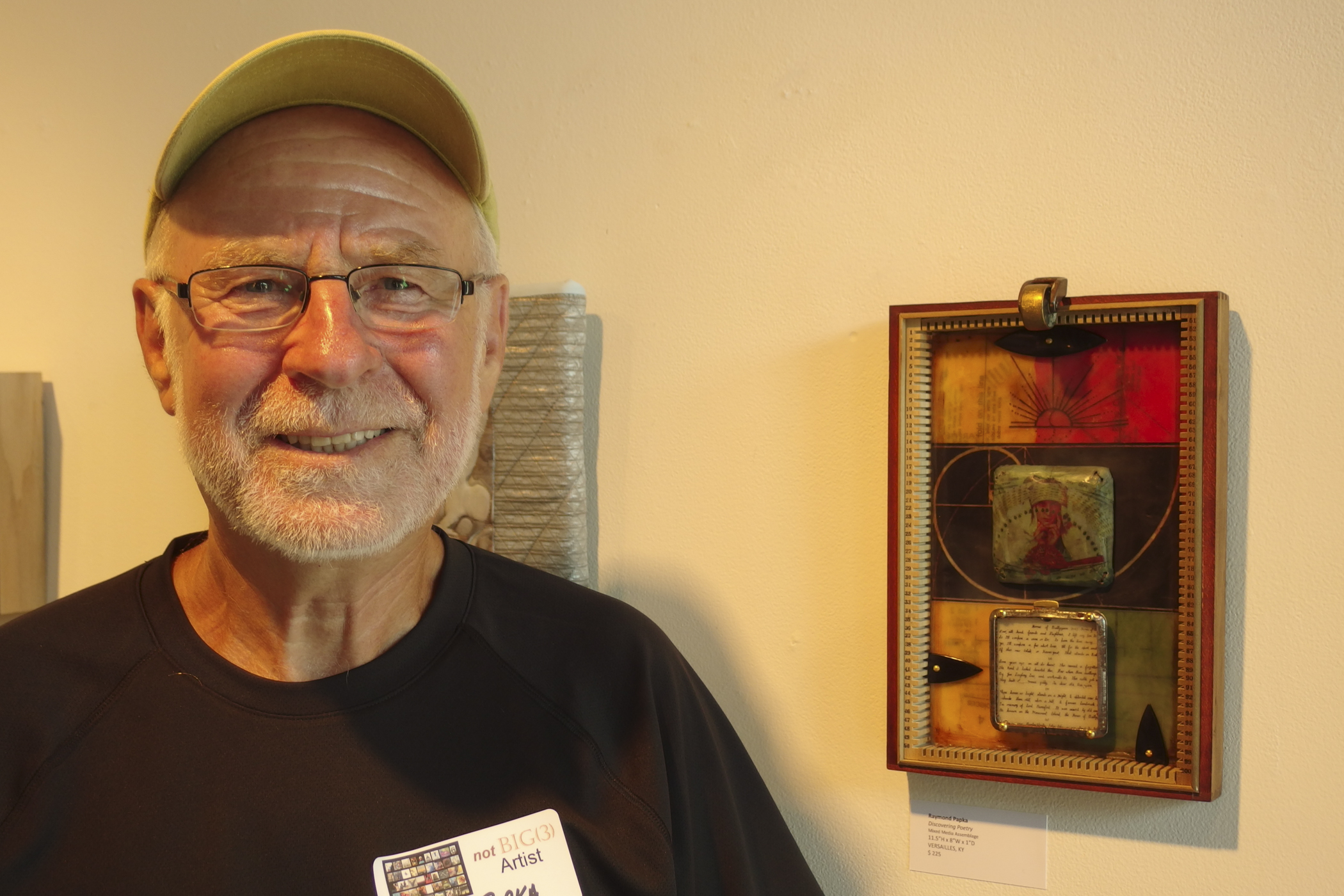 Ray Papka, beautiful encaustic assemblage piece... many more on his website-- check them out  here !