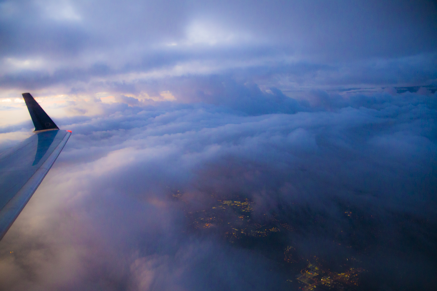 View from the plane during sunrise... fortunate to have a window!