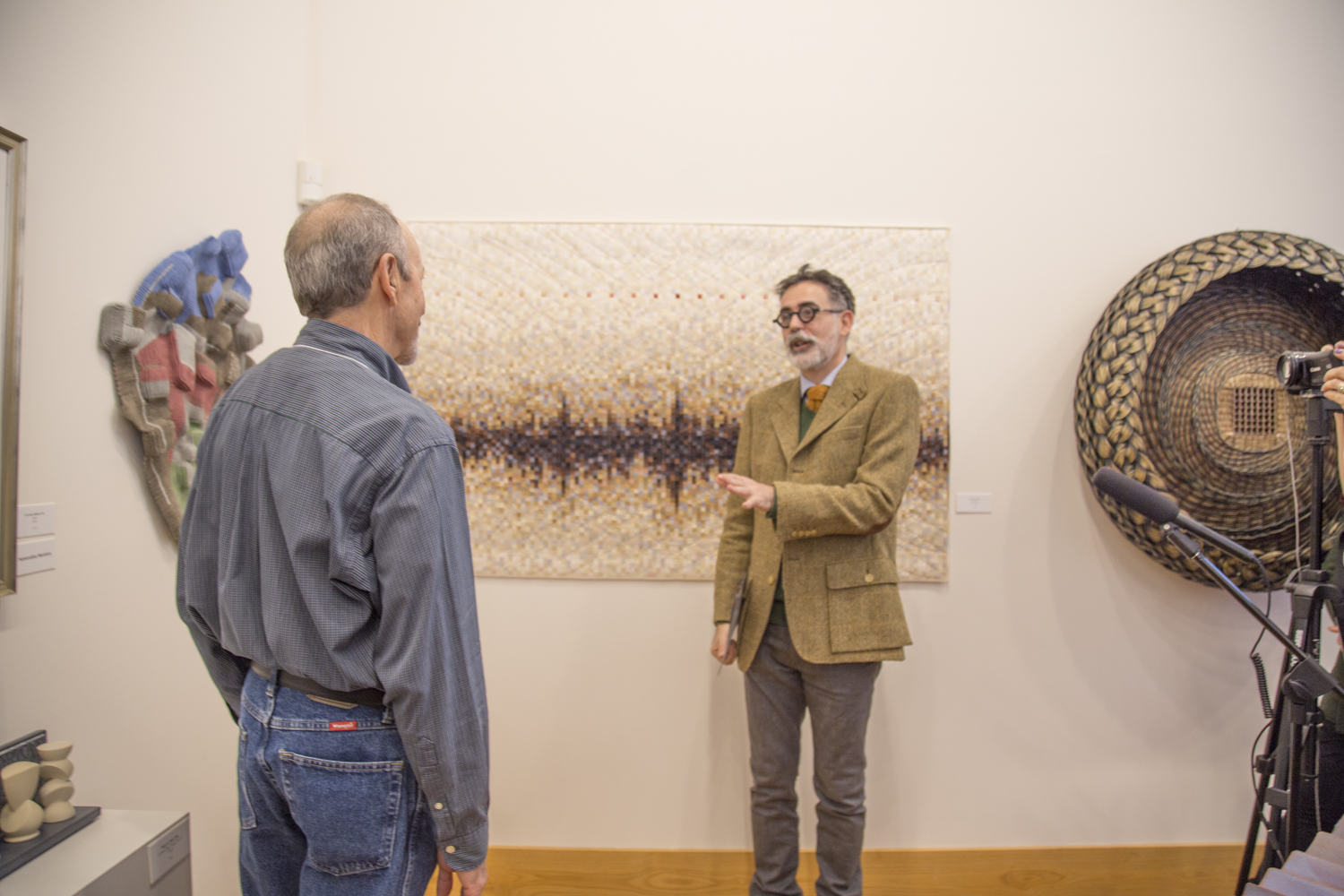 Stefano engaging with Al Canner (CO), Mesa County (A Cubist's View), (left wall)