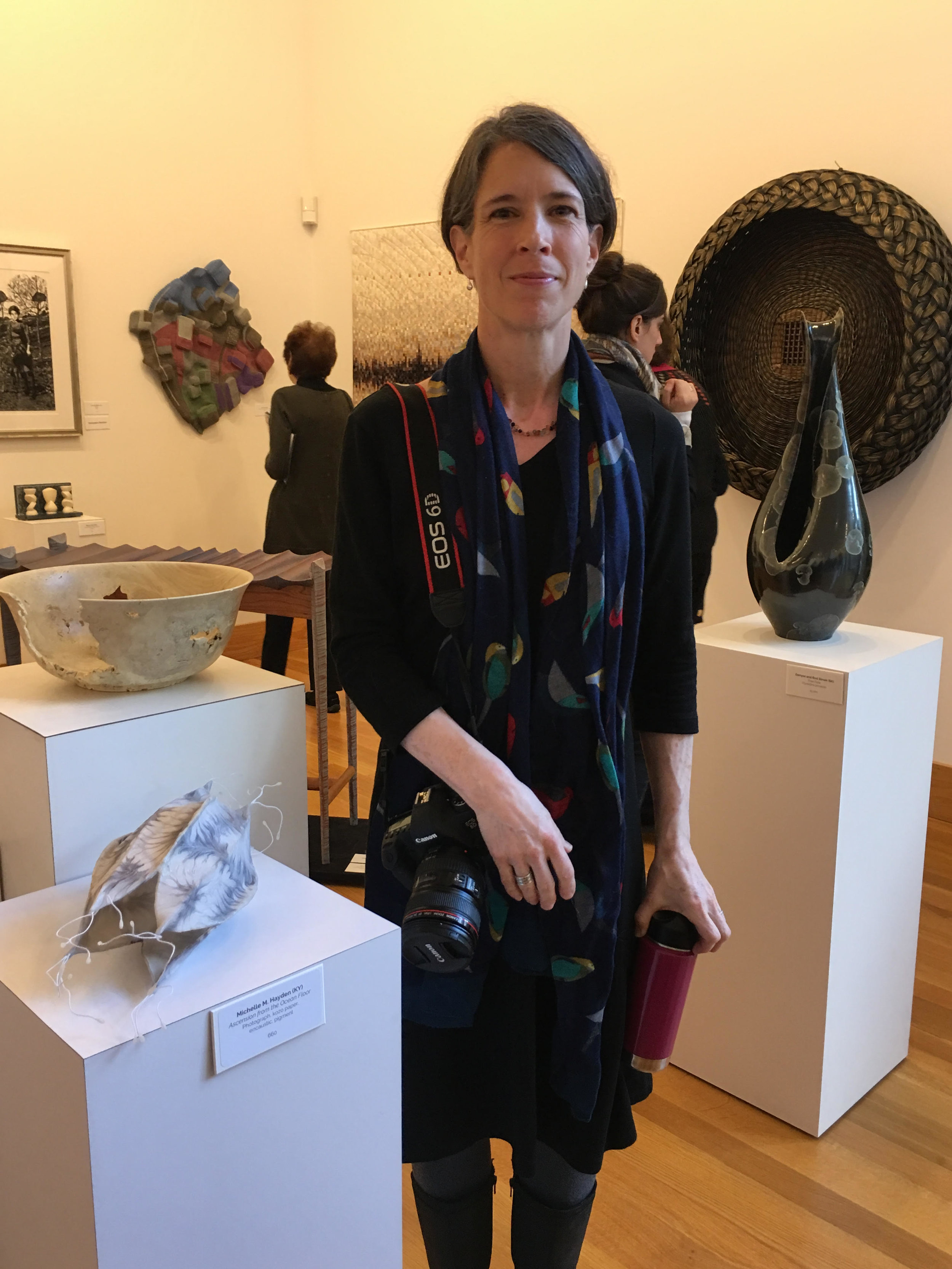 Relief after presenting my piece :), and Stephen L. Maurer (MA),  Ogee Bone Bowl  (behind my sculpture)