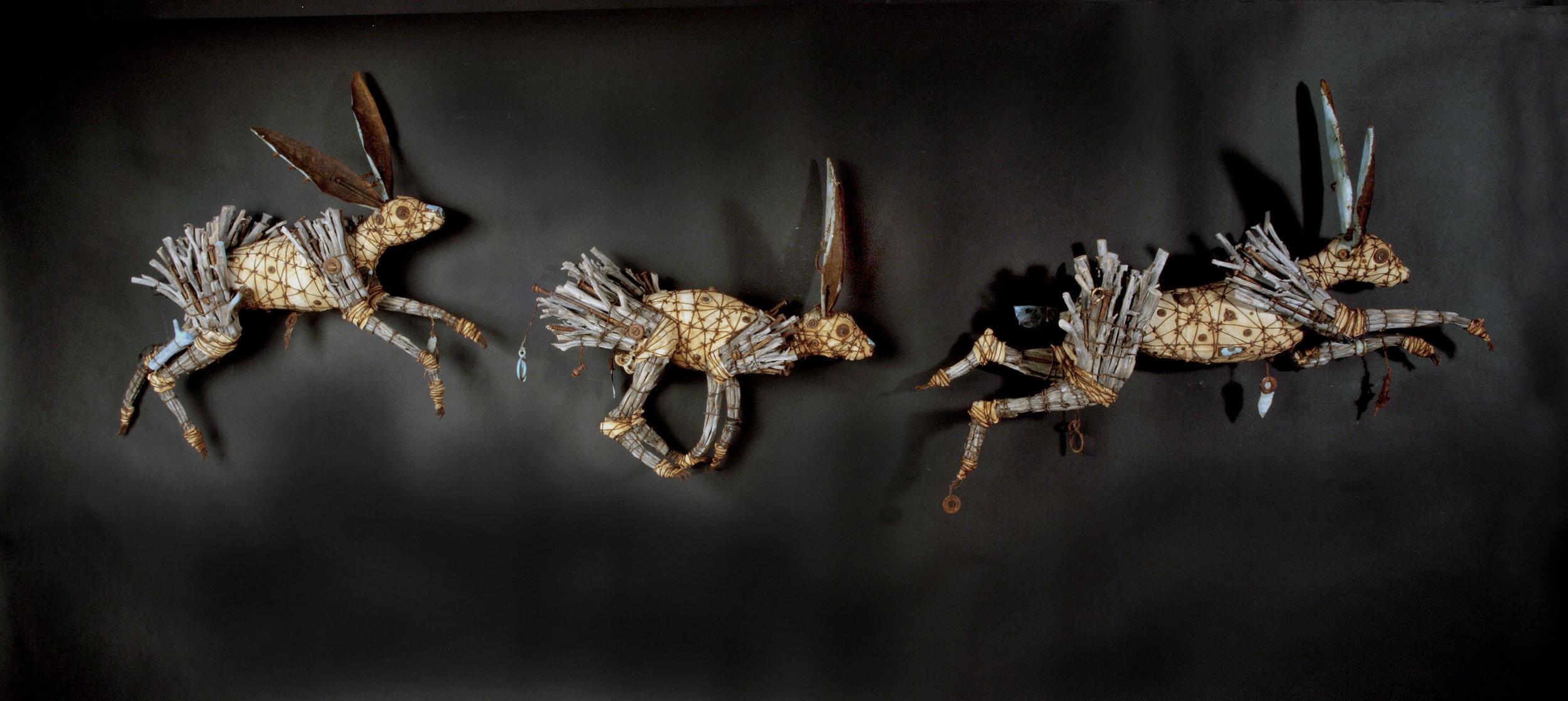"""3 Running Rabbits"", Geoffrey Gorman"