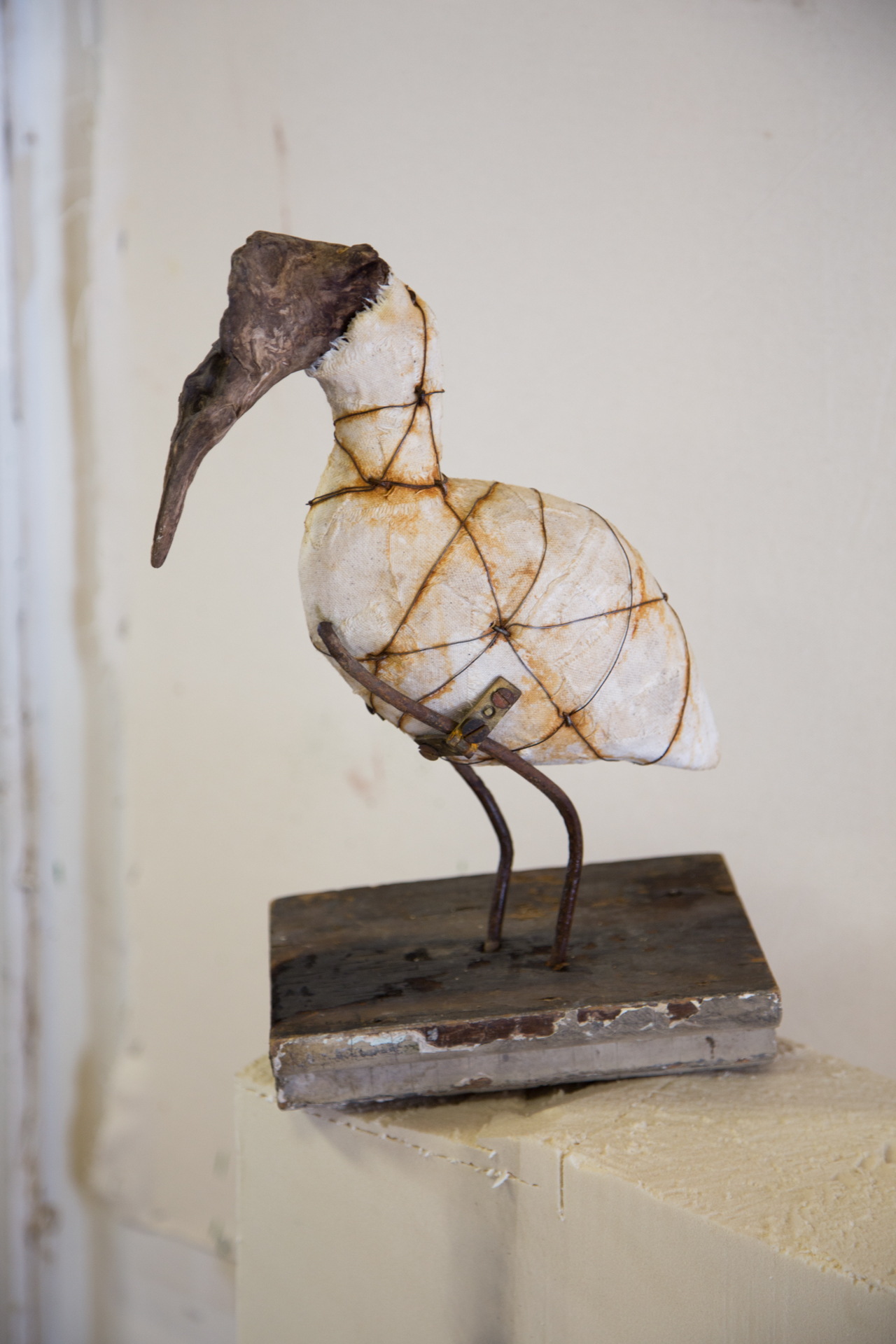 And this beautiful water bird was made using a (once) live bird this woman had in her own collection... nothing like true life as a model!