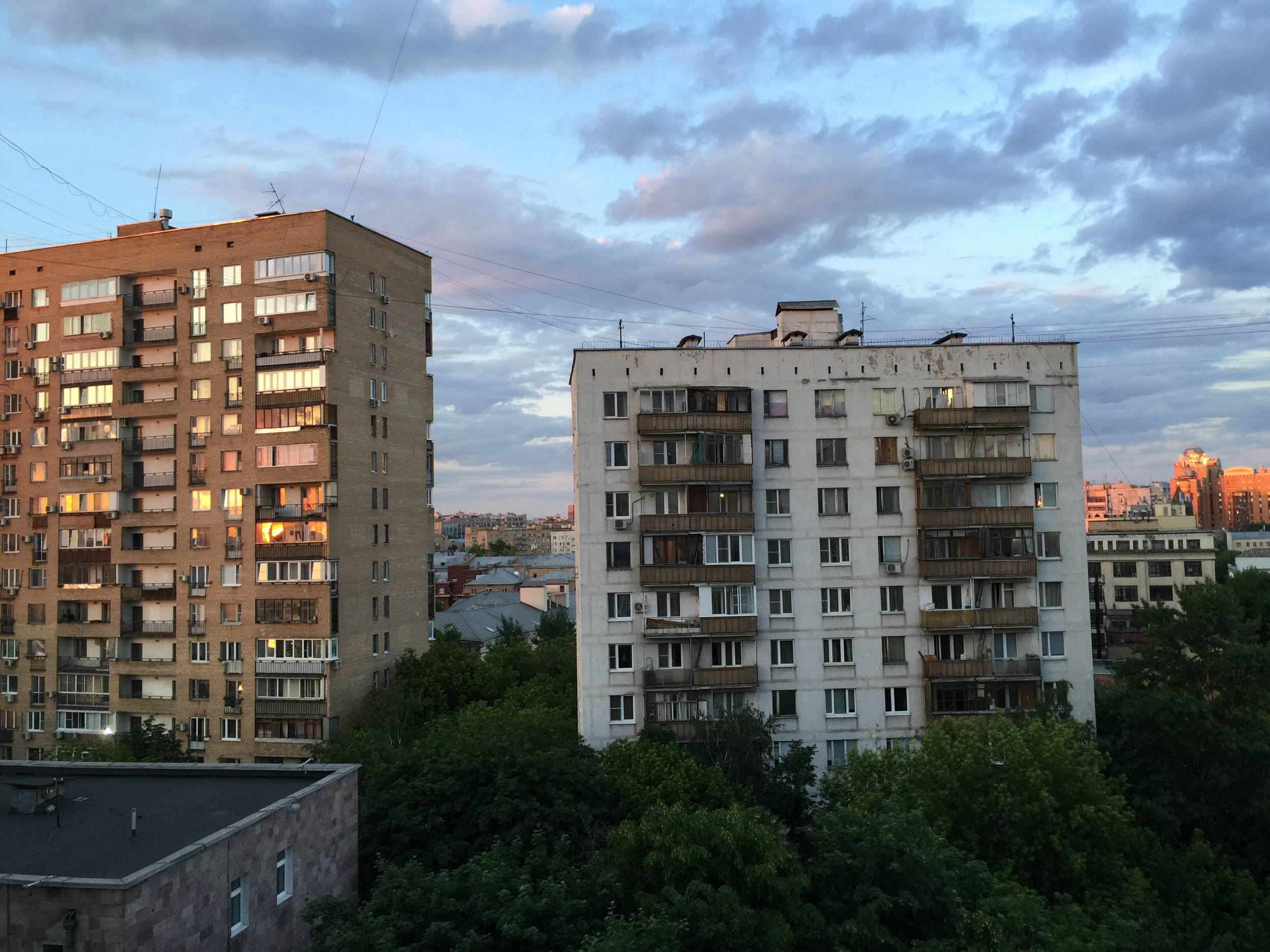 This is my view every night from my Khrushchev-era apartment as I practice my new instrument: the accordina (stay tuned)!