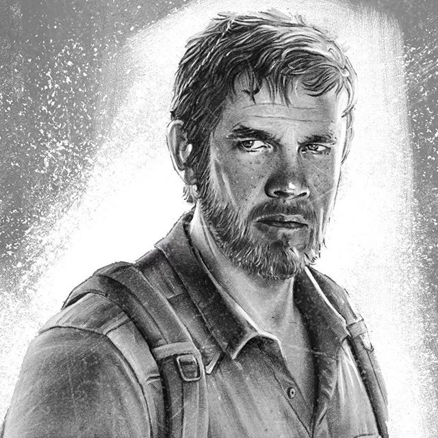 Since the last of us movie was announced a while back, I decided to make some fan art featuring my dream cast choices for Joel and Ellie. Can anyone guess the actor I picked for Joel?   ●Media used: background was painted digitally. Everything else was drawn traditionally and scanned in.