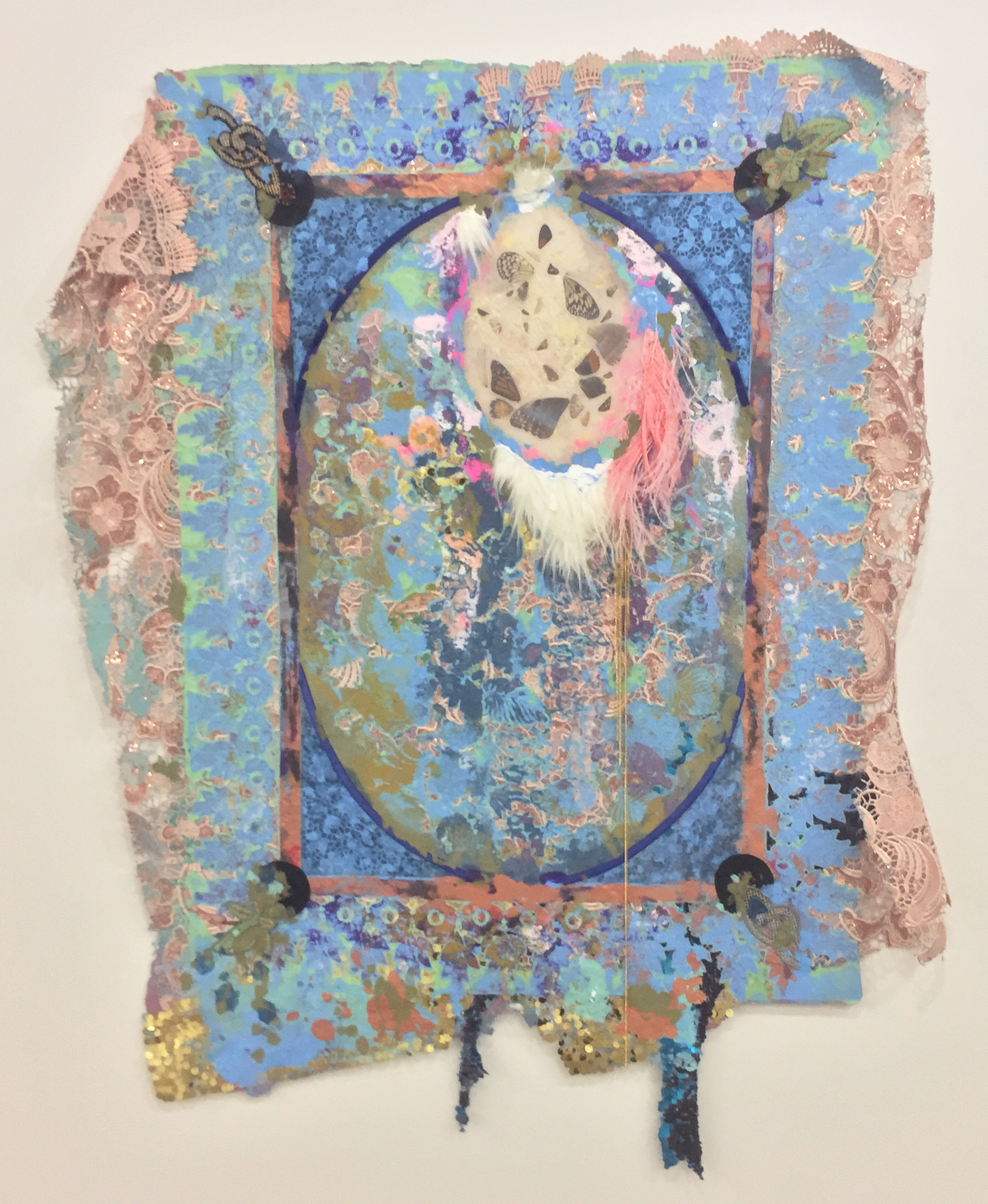 Lina Puerta, Untitled (Turquoise/Tapestries Series), 2016