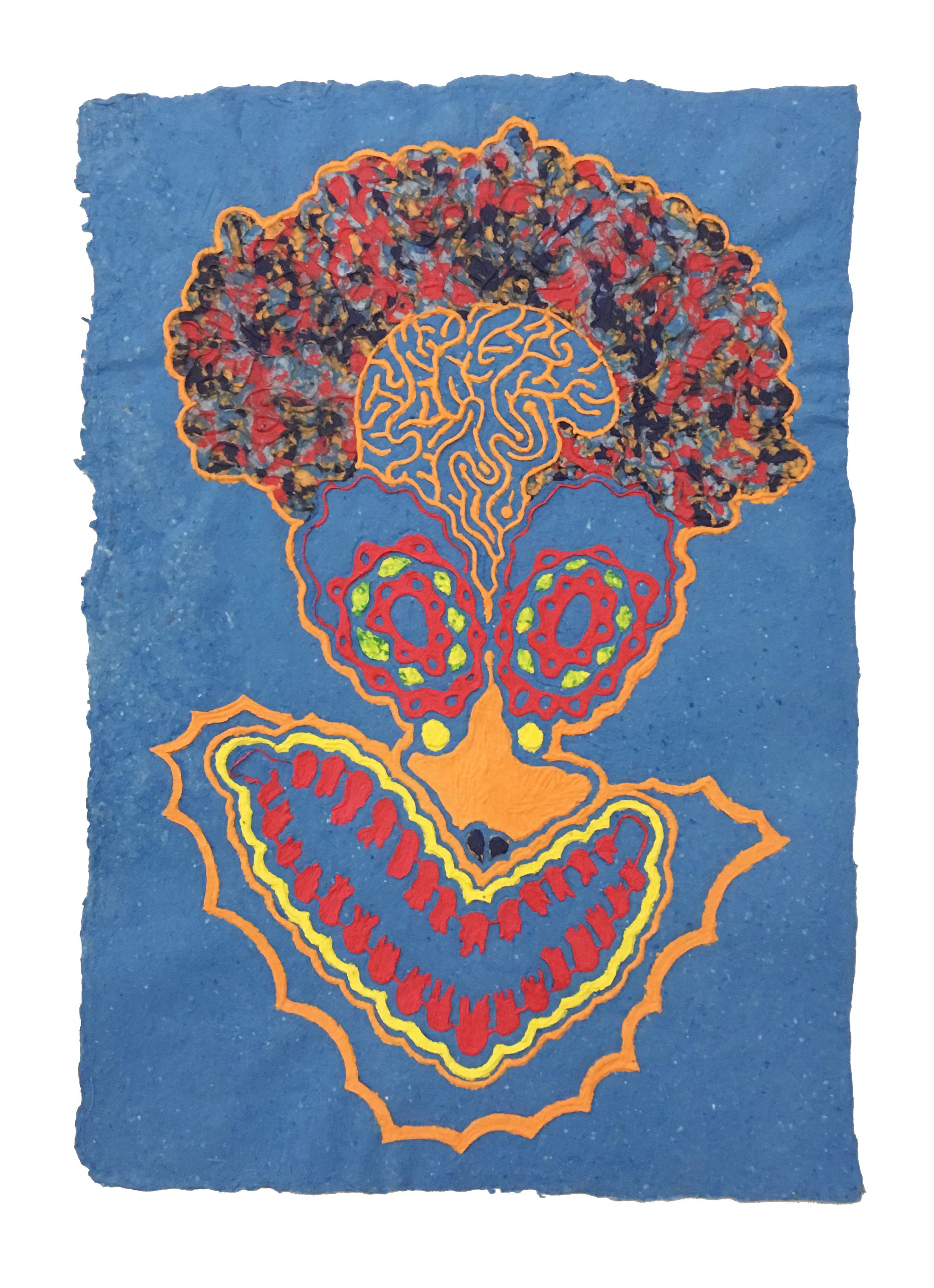 Daniel Wiener   Take the Brain Out of My Skull , 2017  Paper pulp