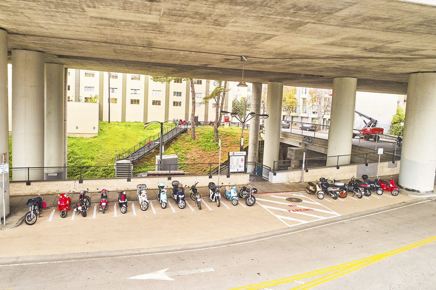 New scooter and bike parking