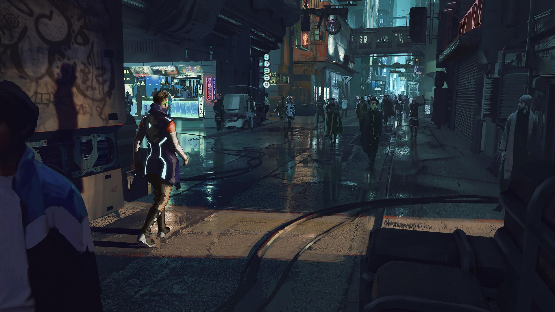 Cyber Punk City Warrens