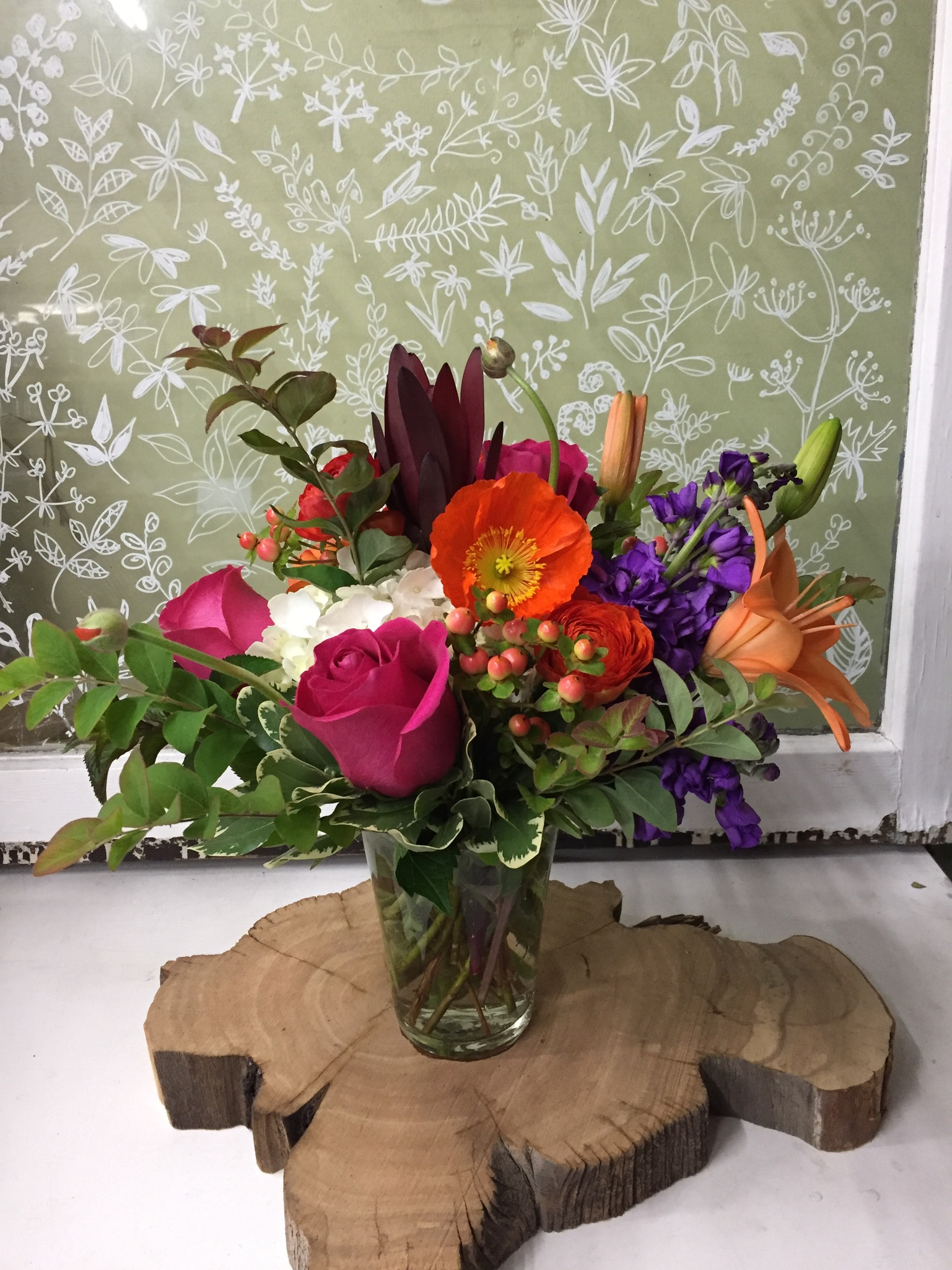 12. Vibrant with poppy and lily