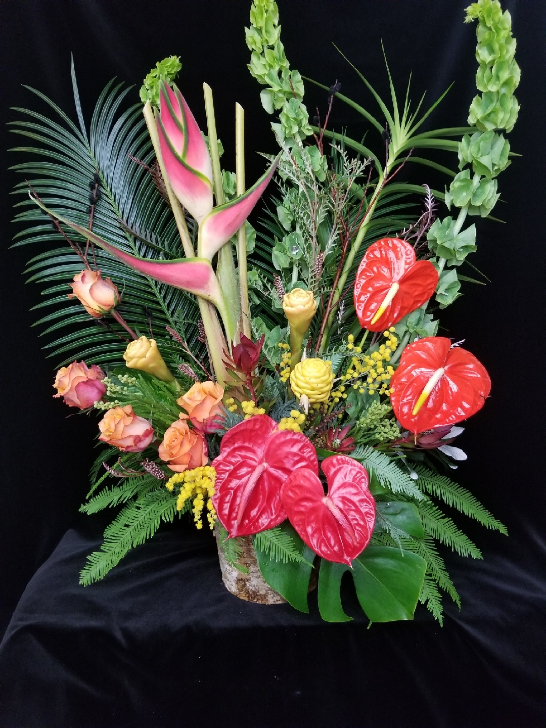 25. Showy tropical with roses
