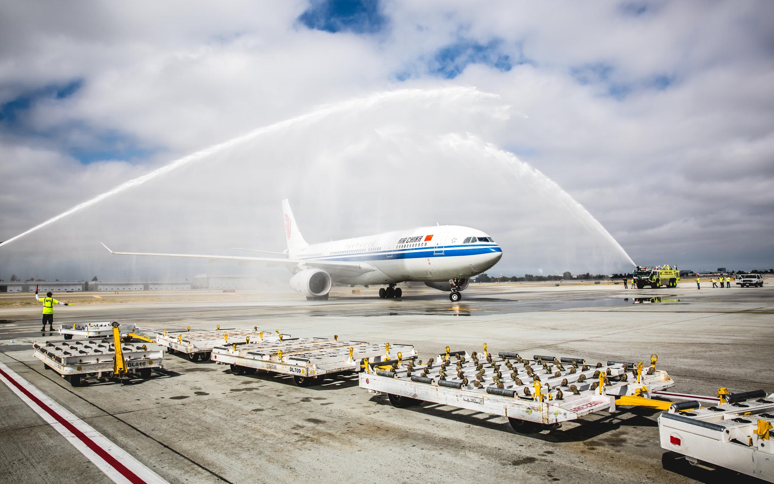 Air China San Jose-Shanghai Inaugural Flight