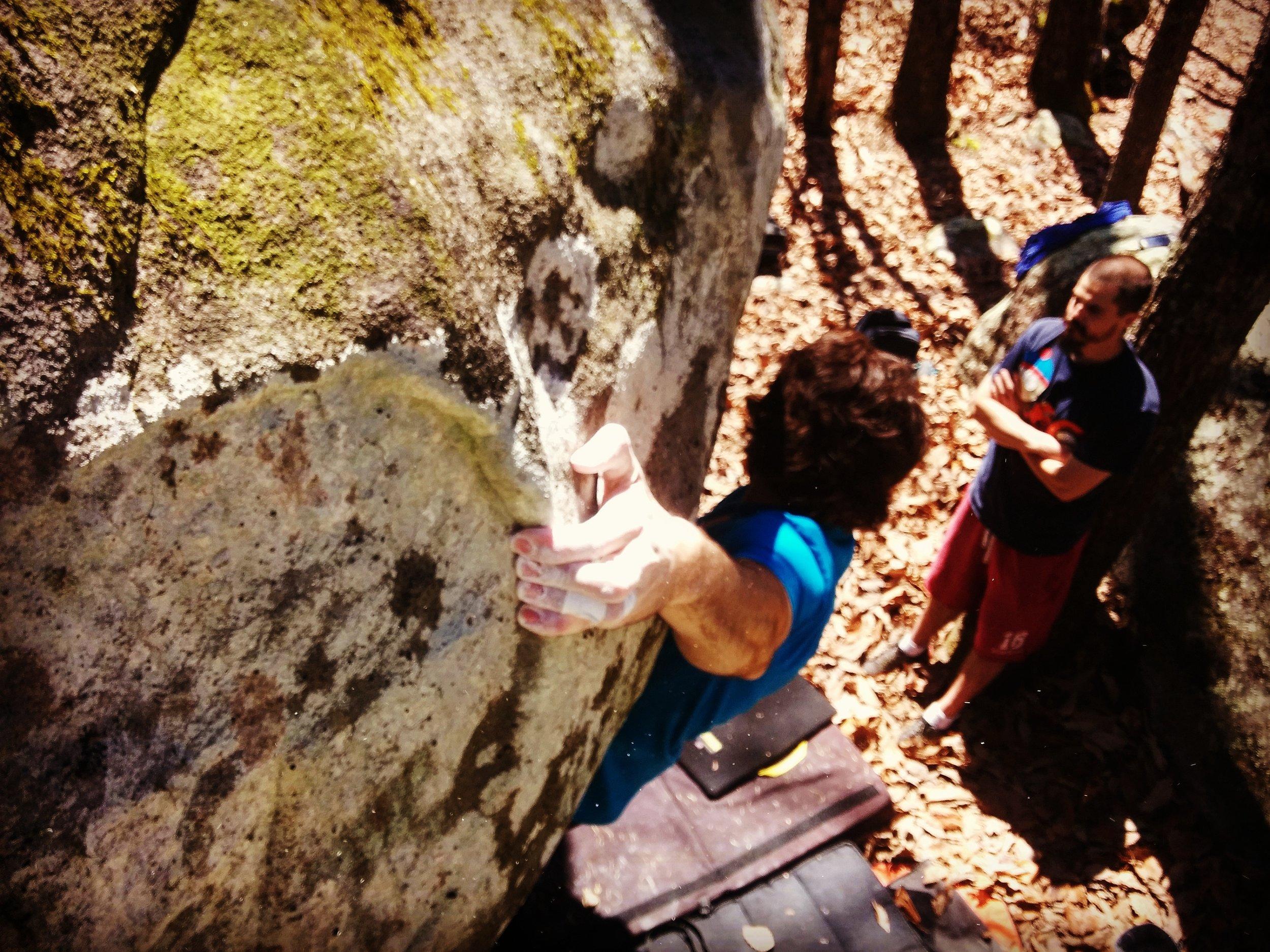 @climbingjoker  trying a Rim Job