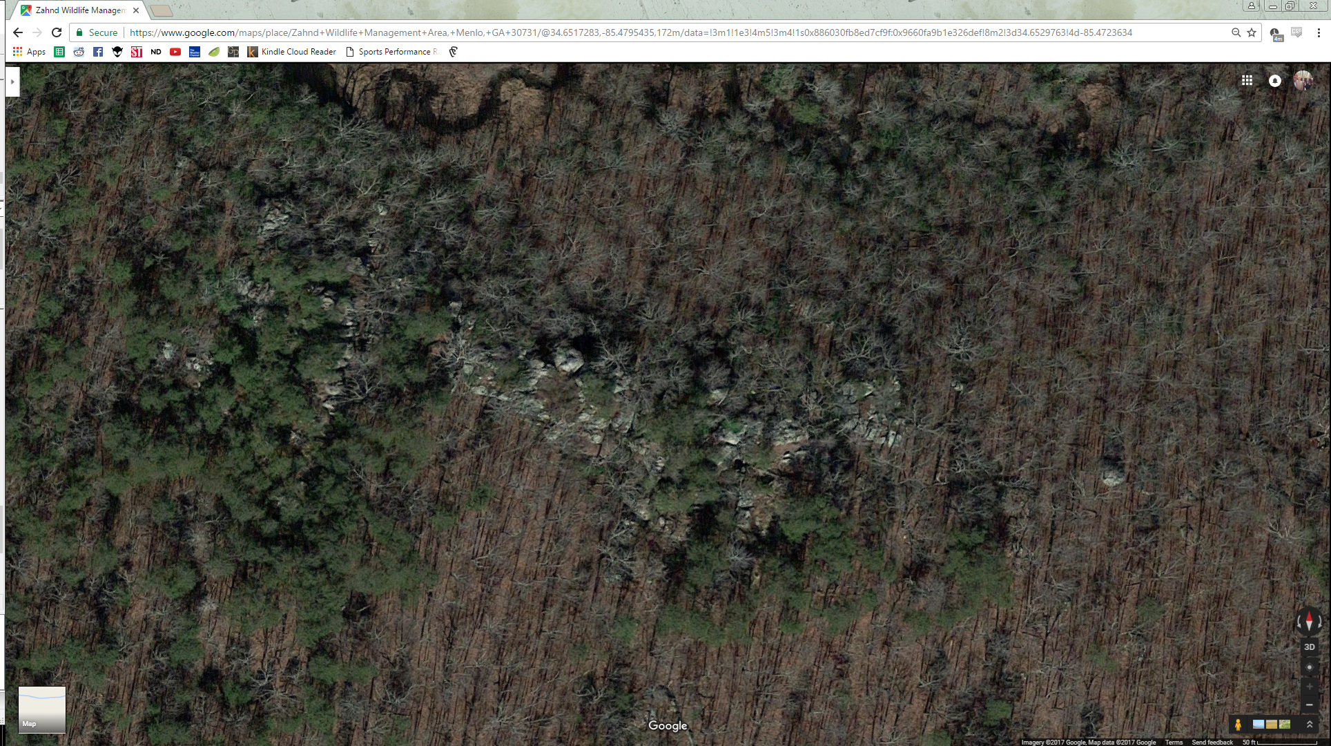 Off Property West of Water Fall