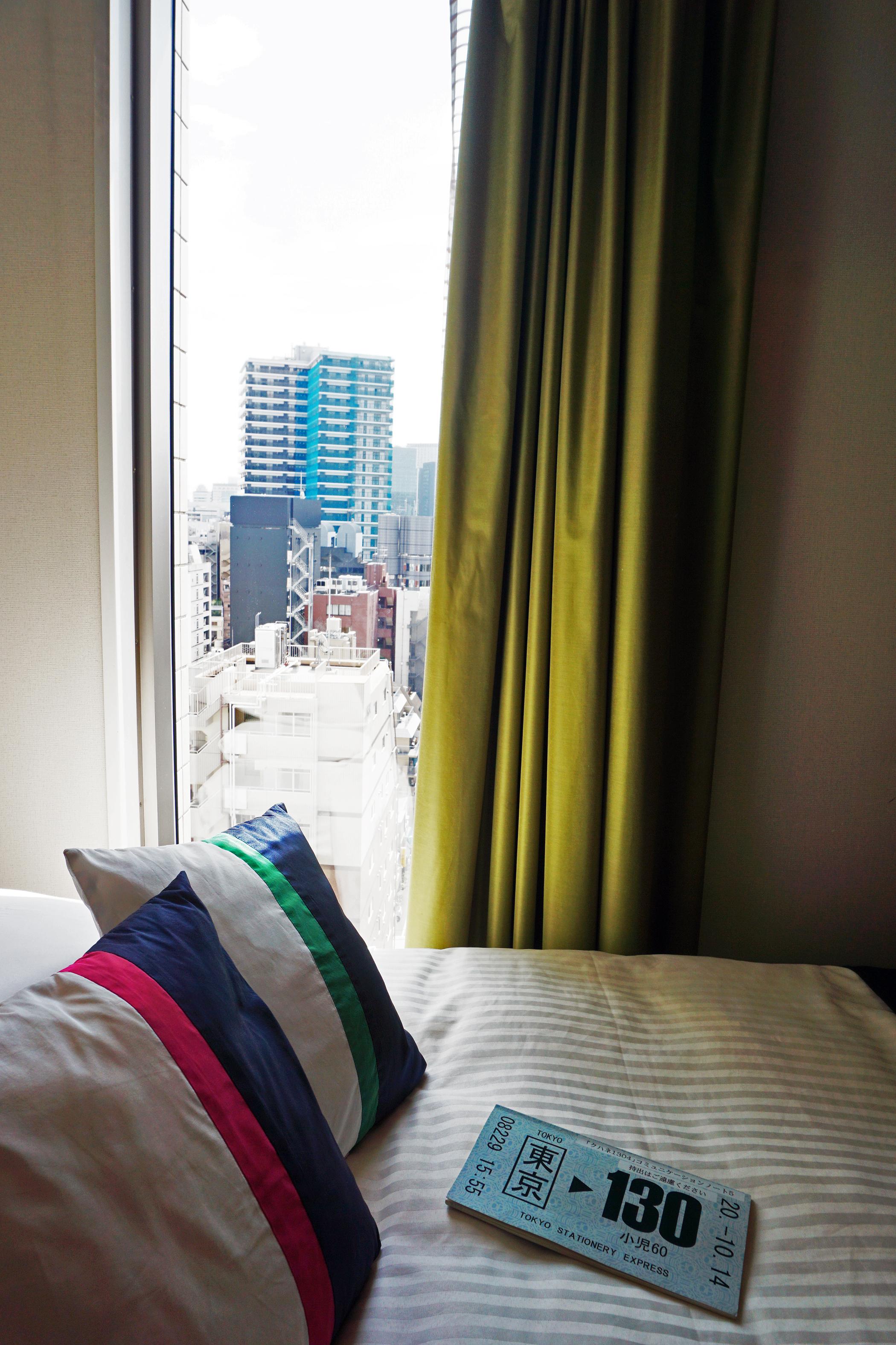Akihabara Washington Hotel - Train Room Bed.JPG