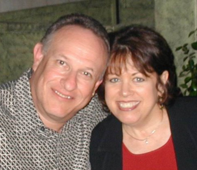 """Bruce with the """"love of his life"""" Abby on their 10th anniversary, 2006"""