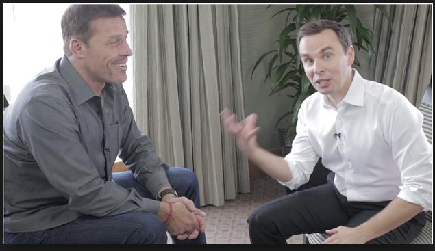 Motivation experts Tony Robbins and Brendon Burchard