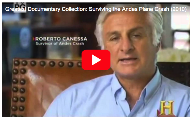 Click here for details of the doomed airplane crash at an altitude of 11,800 feet in the Andes