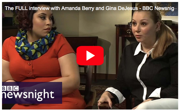Click here for BBC Newnight interview with Amanda Berry and Gina DeJesus.