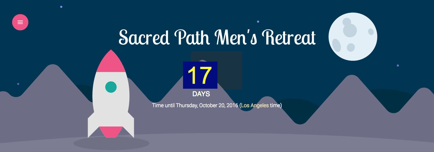 30th Annual Sacred Path Men's Retreat -- Click here to RSVP