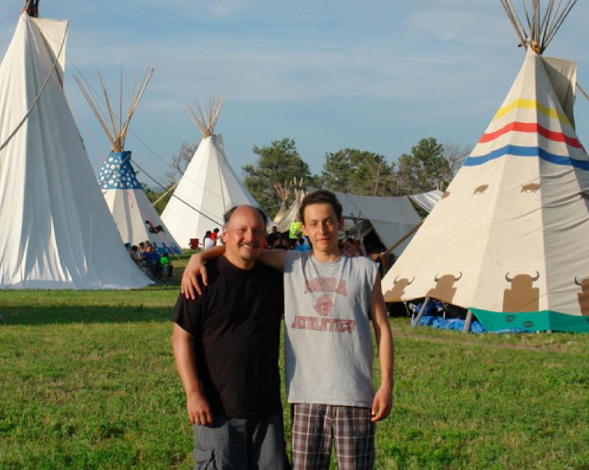 Al Brant & his son Rawa from the Tyendinaga Mohawk Reservation in Ontario, Canada.