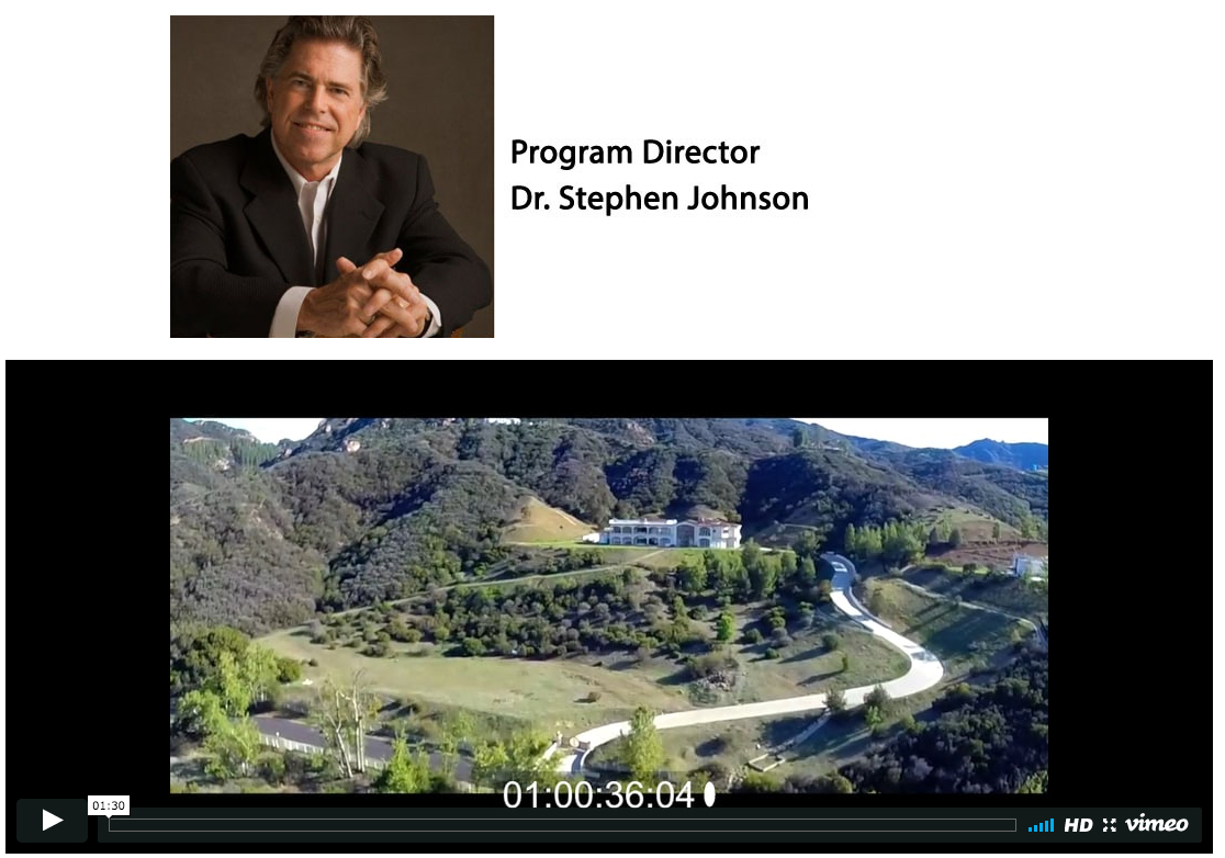 Click here for Dr. Johnson's therapeutic input and overview of FIREFIGHTERS DOWN Healing Center
