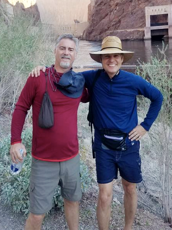 Jeffrey Young & Eric Ramirez  on the Colorado River with 19 other MCLA adventurous men on a mission.