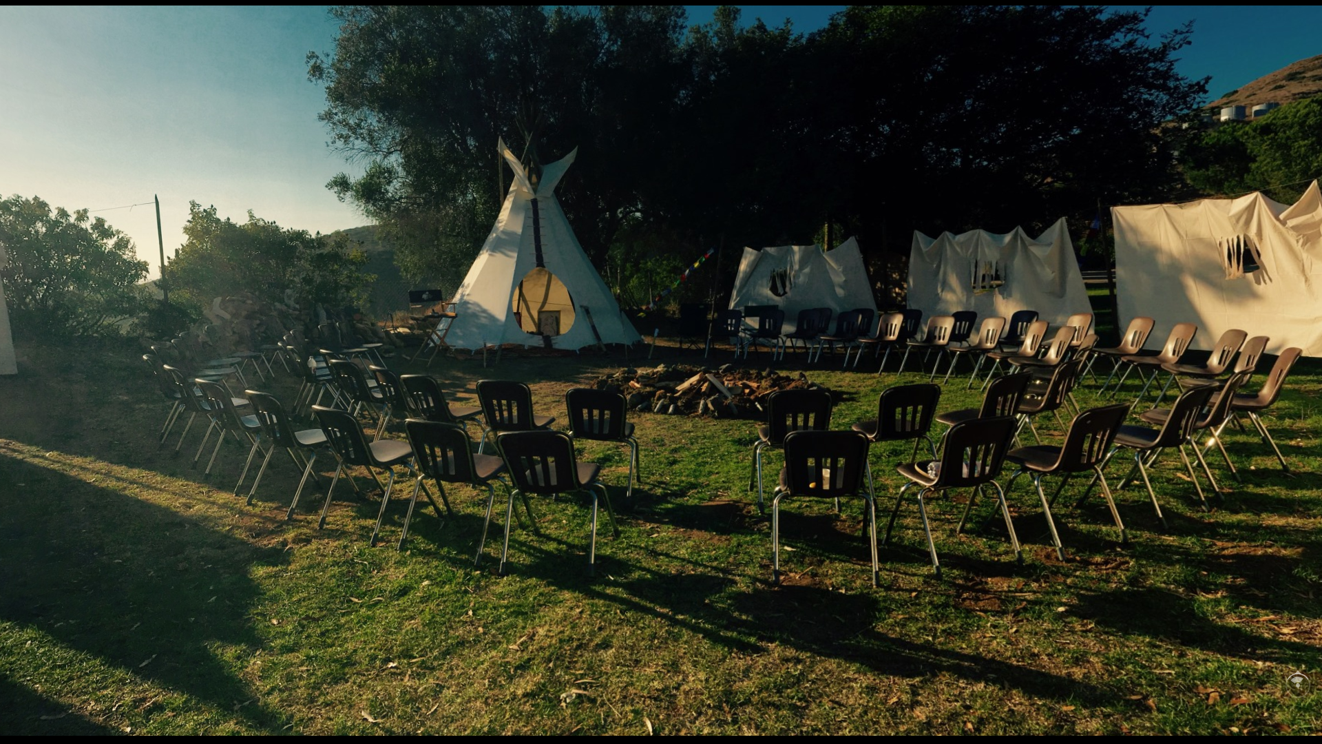 The Newly inspired Intention-Tipi on the lower field - now called the TPC (Tipi Container) was created to supplement our existing indoor container