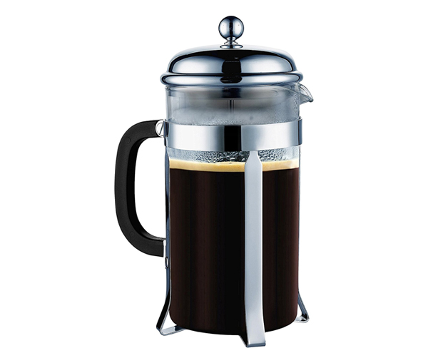 French Press - Get your work day off to a strong start with a mug of perfectly brewed strong coffee from this elegant French Press.