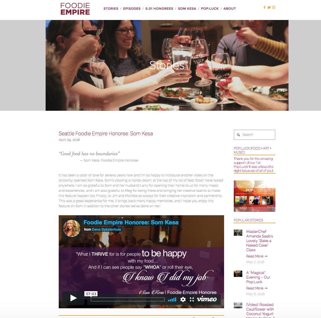 Foodie Empire: Stories on Seattle Foodies by Dana Dyksterhuis