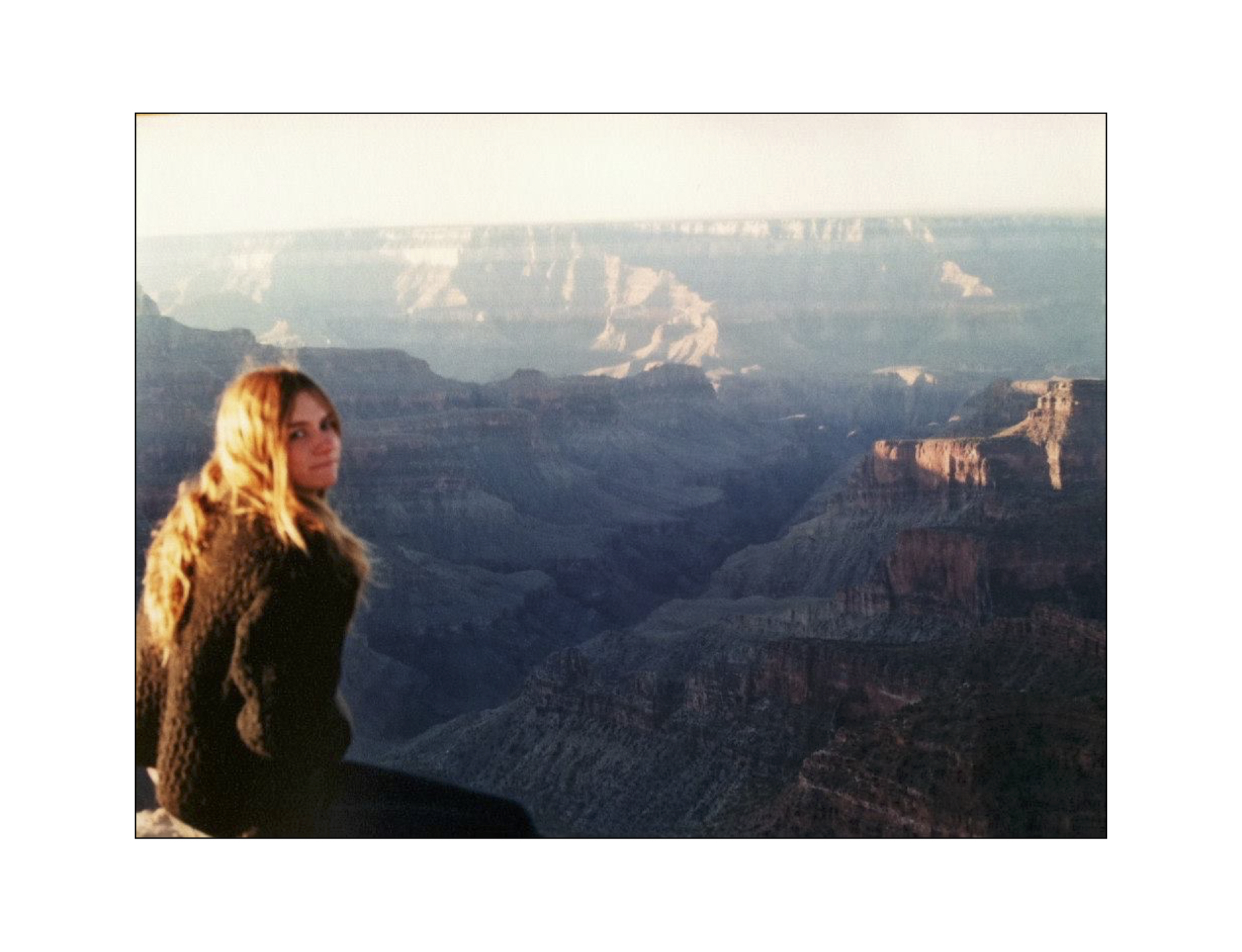 I don't have many photos from that time. This is sad, 19 year old me at the grand canyon, helping my friend move cross country.