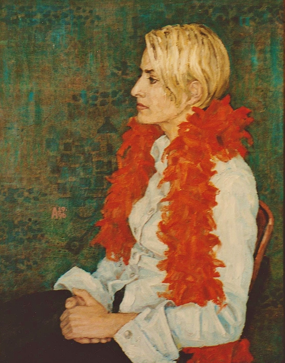 Girl with Feather Boa