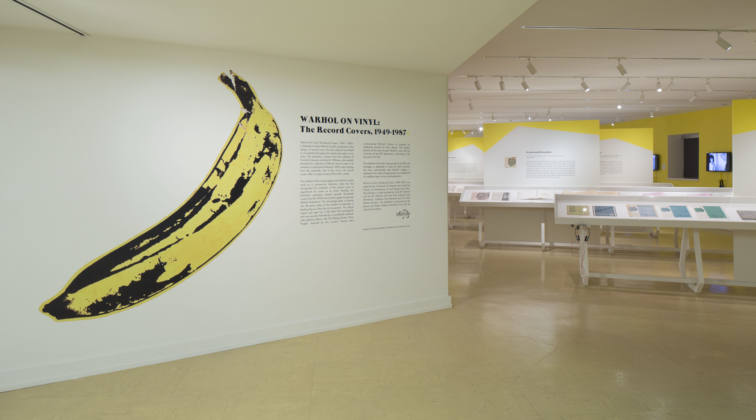WARHOL ON VINYL: THE RECORD COVERS, 1949-1967+   Cranbrook Art Museum June 2014 - March 2015 Photo: R.H. Hensleigh
