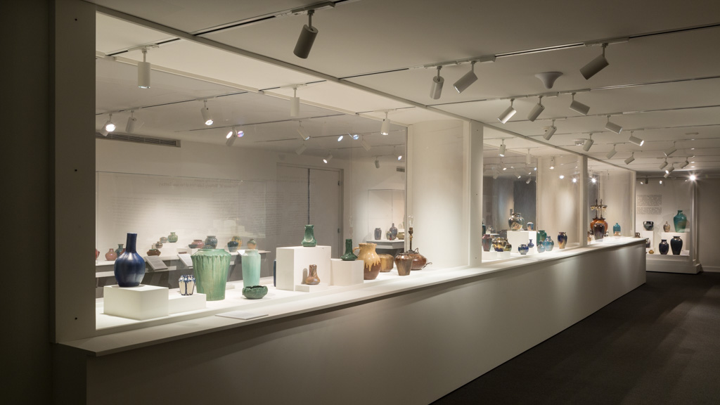 SIMPLE FORMS, STUNNING GLAZES: THE GERALD W. MCNEELY COLLECTION OF PEWABIC POTTERY   Cranbrook Art Museum December 2015, August 2016 Photo: R.H. Hensleigh