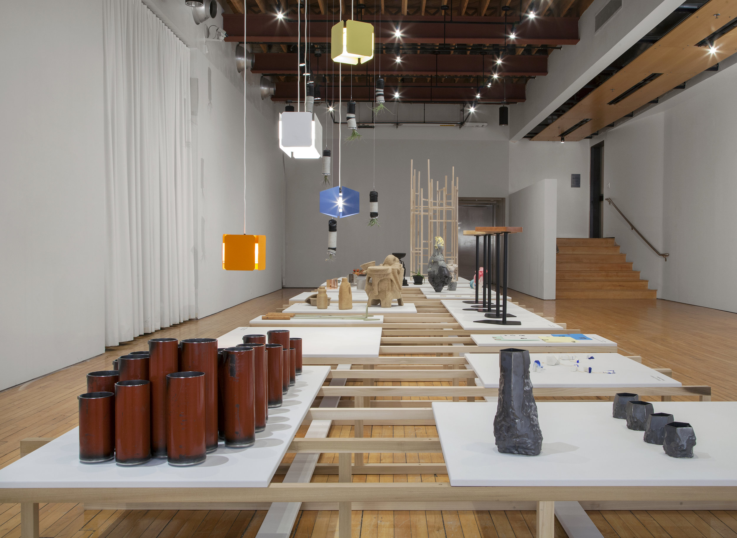 FORM EVER FOLLOWS: ITERATIVE DESIGN OBJECTS   Peter Paul Luce Gallery - Cornell College January 2016 - February 2016 Photo: PD Rearick